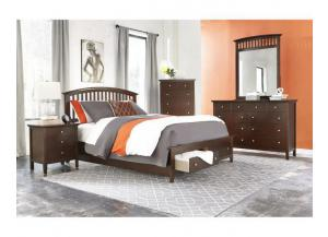 8237 Package -Queen Platform Storage Bed, Dresser, Mirror