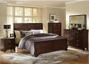 Lifestyle 2180 Queen Bed with Dresser, Mirror, Chest & 1 Nightstand