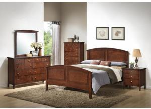 3136 Madison Queen Size Bed with Dresser, Mirror, Chest & 1 Nightstand