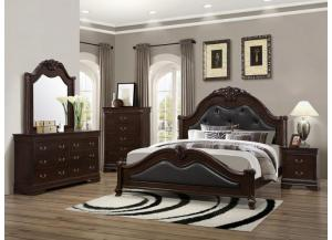 4126 Queen Bed with Dresser, Mirror & 1 Nightstand,Lifestyle